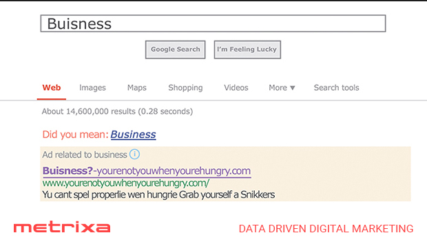 Adwords_example_snickers-misspellings_campaigns_